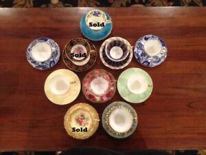 $Reduced$ Box 107 - 10 Vintage Quality English China Teacups & S