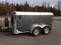 Used Enclosed Cargo Trailler - 6x10 Tandem with Barn Doors