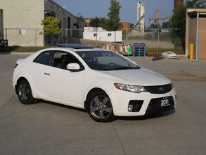 2011 Kia Forte Sunroof,Only 82000 km,Auto,3/Ywarranty availabl