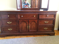 Nice Wood Bedroom Dresser and Chest of Drawers