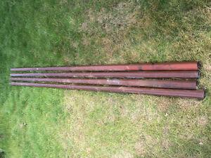 "Pipe 10' x 2-3/8"" diameter 3/16"" thick"