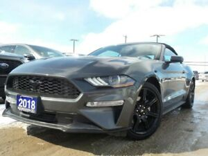 2018 Ford Mustang PREMIUM 2.3L I4 ECO LEATHER NAVIGATION HEATED.