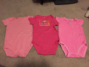 3 Pink Diaper Shirts by Carter's