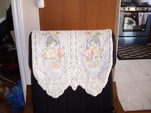 Very beautiful,decorative floral, lilly white couch/sofa covers