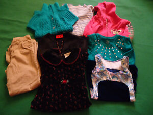 Lot of 7 assorted girls clothes sz 5-6