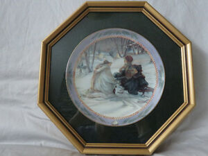 Trish Romance Collectors Framed Plates