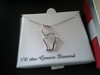 New Stirling Silver Cat Necklace