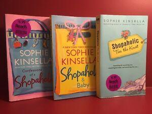 Set of Three Shopaholic / Sophie Kinsella Paperback Novels