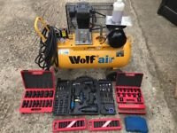 Wolf Air Dakota 100 compressor and accessories Only used a few times