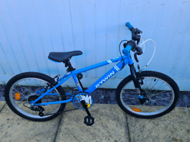 "Blue 20"" wheel bike"