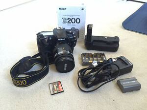Nikon D200 with Battery Pack and Nikkor 28-85 f3.5-4.5