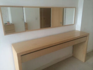 Makeup table, dressing table Ikea very rare size. bcp rangement