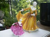 """2-Royal Doulton Figurines- """" Kirsty"""" HN 2381 and HN 3213"""