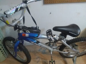 Bike 18 inch blue and 20 inch purple in very good condition