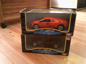Deux autos Motor Max échelle 1/24 :Lamborghini Diablo et BMW Z3