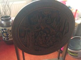 Burmese carved table
