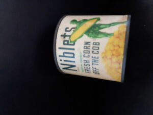 Vintage advertising tins cans
