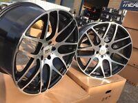 """19"""" alloy wheels Alloys Rims tyre tyres BMW Vw Volkswagen t5 transporter 5x120 Vauxhall"""