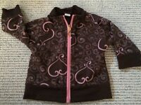 Brown and pink rayon jacket size 6-12 months