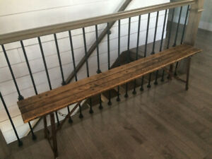 Old 1920 bench from schoolhouse in pei