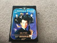 James Bond DVD collection in case with 16 bond dvds