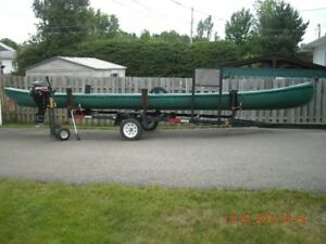 26 ft Laurentian ribless canoe