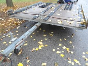 Snowmobile / ATV Tilt Trailer, Double Wide, Works Great