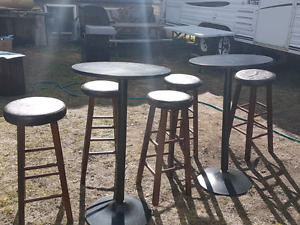 Bar tables and chairs