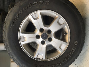 235/70/R16 TIRE AND RIMS