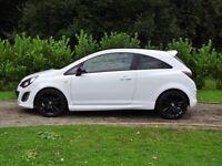 L@@K 2014 14 reg Vauxhall Corsa 1.4 i Limited Edition SRI Ice White* HPI CLEAR* 26,000 miles, mint