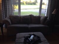 Couch, love seat and ottoman for sale