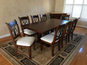 Dining Room Table and Chairs with matching Island Buffet