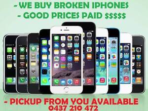 WE BUY BROKEN IPHONES/IPADS-GOOD PRICES-FREE-PICK UP-PRICE MATCH Klemzig Port Adelaide Area Preview