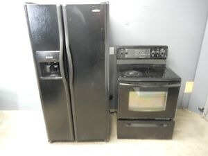 Black fridge $225,Black Convection fstove $175,can deliver