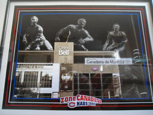 LARGE, FRAMED COMMEMORATIVE MTL CANADIENS COLLECTORS PRINT