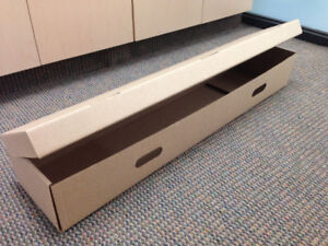 Cardboard Storage Boxes long & narrow - 20 available