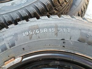 WINTER TIRES AND RIMS  195/65/15 West Island Greater Montréal image 4
