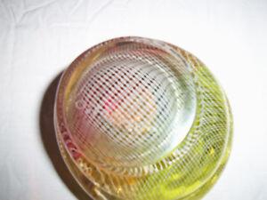 Mid-Century Czech Harrtil Merleto Art Glass Bowl/Ashtray Milan Prince George British Columbia image 3