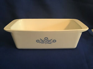 1970's Corning Ware Blue Cornflower Loaf Pan