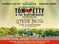 2 x Tickets to Tom Petty and The Heartbreakers