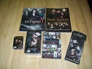 Twilight / New Moon Books and Card Games & Door Hangers New