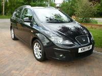 Black 2011 Seat Altea XL 1.6TDI CR Ecomotive ( 105ps ) Long MOT & Just Serviced