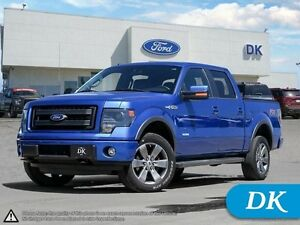 2013 Ford F-150 FX4 Ecoboost 402A w/Leather, Moonroof, and Nav!