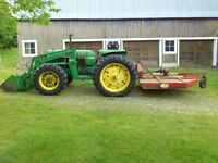 John Deere 2550 4wd with loader and bush hog