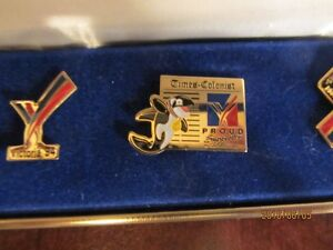 5 Collector Pins in Box - 1994 Vancouver Commonwealth Games Moose Jaw Regina Area image 3