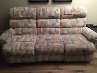 La-Z-Boy Sofa and Matching Recliners