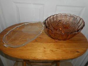 Lot of candy dishes fruit bowls