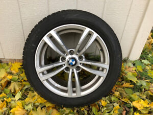 BMW Winter Tires on Aluminum Rims 225/50/R17 - Almost New