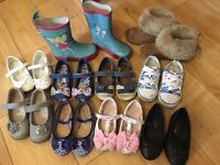 Girls size 7 infant shoe/boot/wellie bundle