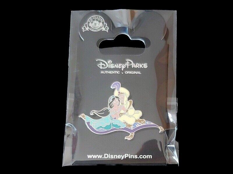Disney Pin Princess Jasmine and Prince Ali Aladdin on a Flying Carpet NOC